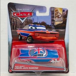 Disney Pixar Cars body shop union jack ramone